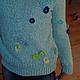 Одежда для девочек, ручной работы. Заказать Голубой вязаный свитер для девочки Незабудка. Вязание  Лоскутное шитье Пэчворк (Svetlana-Svet). Ярмарка Мастеров.