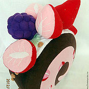 Для дома и интерьера ручной работы. Ярмарка Мастеров - ручная работа Детская подушка-игрушка Пирожное. Handmade.