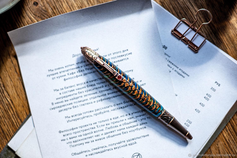 Винтажный подарок Викторианская ручка в состаренной меди, Ручки, Москва,  Фото №1