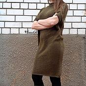 Одежда ручной работы. Ярмарка Мастеров - ручная работа Платье вязаное спицами - Простой силуэт. Handmade.