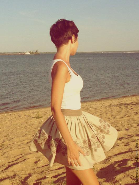 """Юбки ручной работы. Ярмарка Мастеров - ручная работа. Купить Юбка с машинной вышивкой """"Romantic Summer Skirt"""". Handmade. Юбка"""