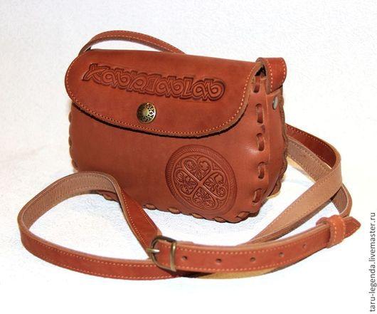 """Женские сумки ручной работы. Ярмарка Мастеров - ручная работа. Купить Кожаная сумочка  """"Айно"""" - рыжая. Handmade. Кожаная сумка"""