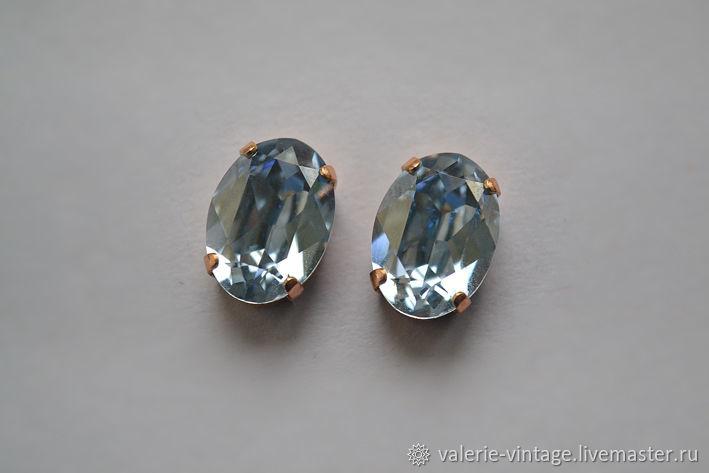 Swarovski crystals 14h10mm. color Blue Shade, Crystals, Moscow,  Фото №1