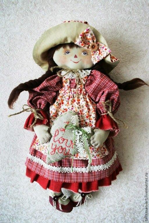 Коллекционные куклы ручной работы. Ярмарка Мастеров - ручная работа. Купить Интерьерная кукла. Handmade. Разноцветный, девочка, кукла из ткани