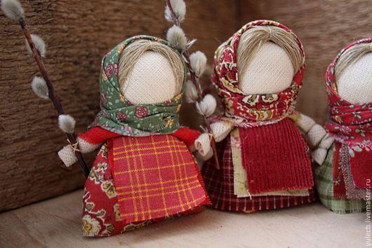 """Народные куклы ручной работы. Ярмарка Мастеров - ручная работа. Купить Куколки """"Пасхальные вербочки"""". Handmade. Народная кукла, верба"""