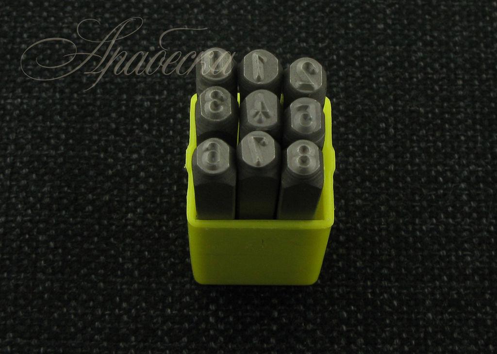 Набор штампов для металла Цифры 4мм 9шт Elvas (Китай)