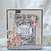 """Свадебный салон ручной работы. Ярмарка Мастеров - ручная работа Открытка """"True love"""". Handmade."""