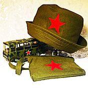 Работы для детей, ручной работы. Ярмарка Мастеров - ручная работа Солдатская шапка и сумка для малыша. Handmade.