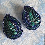 Украшения handmade. Livemaster - original item Earrings with turquoise and pearls. Handmade.