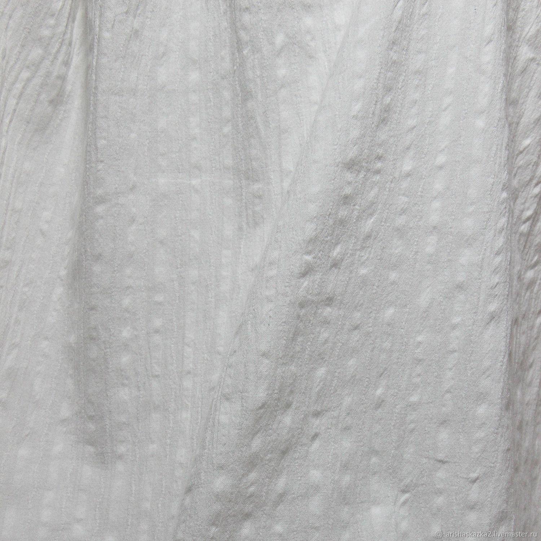 Шитье ручной работы. Ярмарка Мастеров - ручная работа. Купить Фактурный хлопок № 4 . Белая ткань бохо прованс будуар. Handmade.