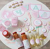 Подарки к праздникам ручной работы. Ярмарка Мастеров - ручная работа Набор Baby Shower в ожидании девочки. Handmade.