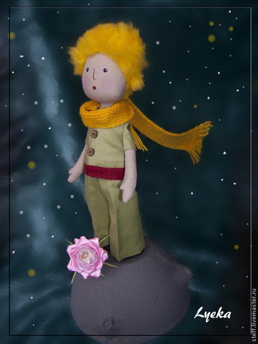 Сказочные персонажи ручной работы. Ярмарка Мастеров - ручная работа. Купить Маленький принц. Handmade. Оливковый, интерьерная кукла, шерсть