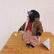 """Мягкие игрушки ручной работы. Ярмарка Мастеров - ручная работа Крот, коллекция """"Ветер в ивах"""", 17 см, друзья тедди, авторская игрушка. Handmade."""