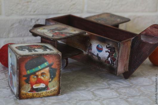 Детская ручной работы. Ярмарка Мастеров - ручная работа. Купить Старый цирк, набор. Handmade. Цирк, авиация, аква-лак