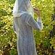 Outer Clothing handmade. 8 coat handmade duvet, outerwear, knitted. Nadegda , pukhovyy platok. My Livemaster.Coat, gentle