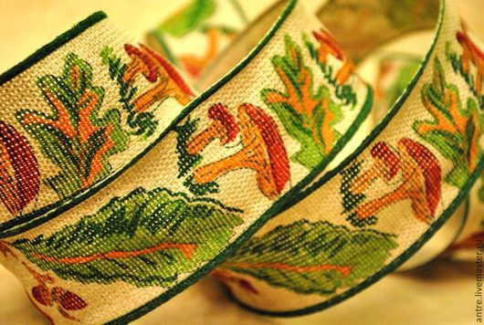 Шитье ручной работы. Ярмарка Мастеров - ручная работа. Купить Лента искусственный Лен (Осенний урожай). Handmade. Лента, тесьма