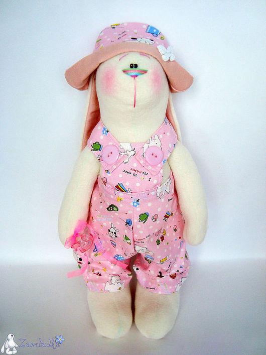 Игрушки животные, ручной работы. Ярмарка Мастеров - ручная работа. Купить Заяц Малышка в розовом костюме (45 см.). Handmade.