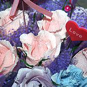 """Цветы и флористика ручной работы. Ярмарка Мастеров - ручная работа """"С тобой"""" Букет из конфет. Handmade."""