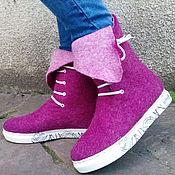 """Обувь ручной работы. Ярмарка Мастеров - ручная работа Сапожки демисезонные""""Эко кроссовки"""". Handmade."""