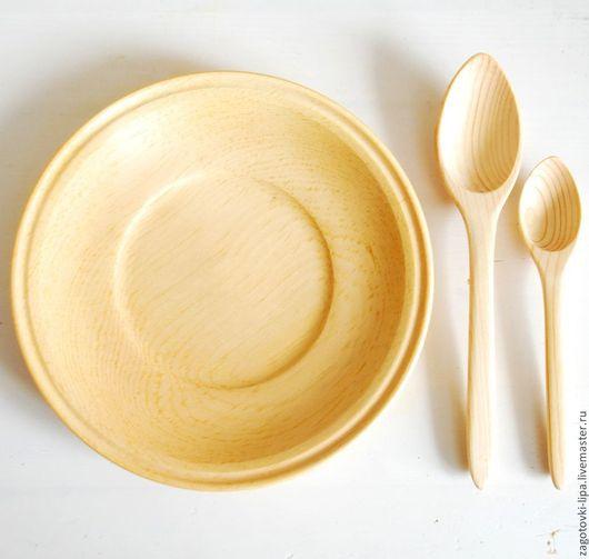 Кухня ручной работы. Ярмарка Мастеров - ручная работа. Купить Набор блюдце с ложками из кедра. Handmade. Кедр, изделия из кедра