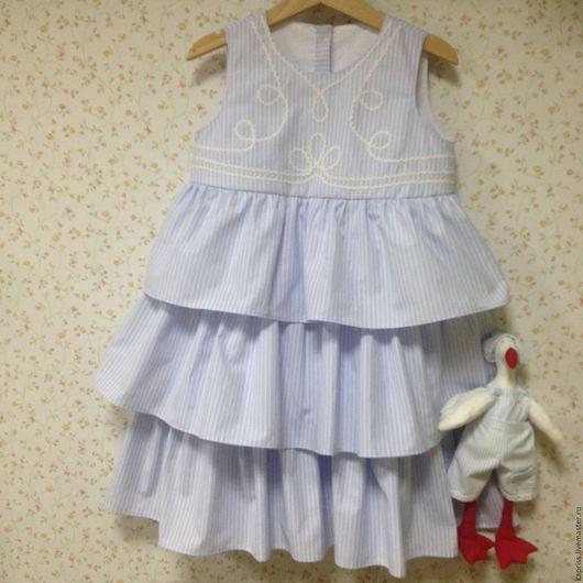 Одежда для девочек, ручной работы. Ярмарка Мастеров - ручная работа. Купить хочу на море. Handmade. Голубой, подарок дочке