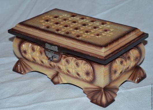 Шкатулки ручной работы. Ярмарка Мастеров - ручная работа. Купить Шкатулка деревянная резная. Handmade. Бежевый, натуральное дерево