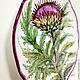 The painted porcelain.Plate ' Botanical prints. Thistle'. Plates. ArtFlera (artflera). My Livemaster. Фото №4