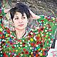 """Блузки ручной работы. Ярмарка Мастеров - ручная работа. Купить Кофта по мотивам картины Моне """"Маковое поле"""". Handmade. Моне"""