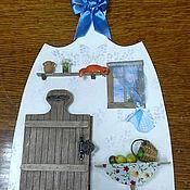 """Картины и панно ручной работы. Ярмарка Мастеров - ручная работа """"Дверь к счастью! Рыжий кот.""""  - панно миниатюра. Handmade."""