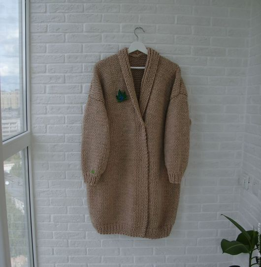 Верхняя одежда ручной работы. Ярмарка Мастеров - ручная работа. Купить Пальто Тепло 2. Handmade. Бежевый, пальто оверсайз