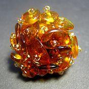 Украшения handmade. Livemaster - original item Ring with natural amber