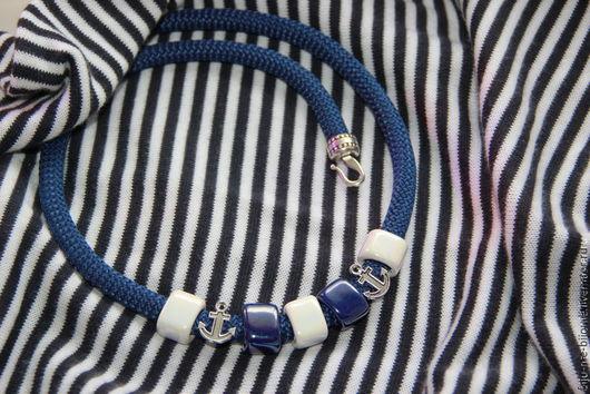 Колье, бусы ручной работы. Ярмарка Мастеров - ручная работа. Купить ожерелье Мечты о море. Handmade. Синий, летнее колье