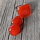 """Комплекты украшений ручной работы. Ярмарка Мастеров - ручная работа. Купить набор украшений """"Калиновый"""". Handmade. Ярко-красный, красный"""