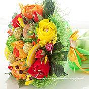 Подарки к праздникам ручной работы. Ярмарка Мастеров - ручная работа Конфетный букет ``Яркая осень!``. Handmade.