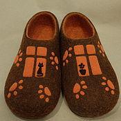 """Обувь ручной работы. Ярмарка Мастеров - ручная работа Тапки """"Кошкин дом"""". Handmade."""