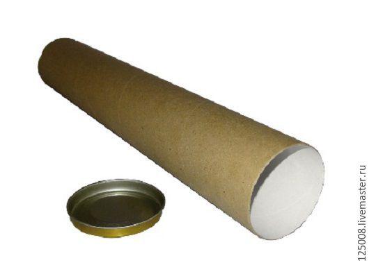 Упаковка ручной работы. Ярмарка Мастеров - ручная работа. Купить Тубус D-100мм длина - 50 см. Handmade. Бурый