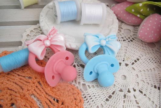 """Мыло ручной работы. Ярмарка Мастеров - ручная работа. Купить Мыло """"Соска"""". Handmade. Голубой, аист, подарок новорожденной"""