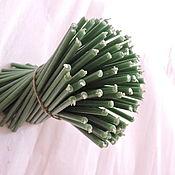 Ритуальная свеча ручной работы. Ярмарка Мастеров - ручная работа Зеленые восковые свечи (получасовые). Handmade.