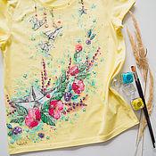 Одежда handmade. Livemaster - original item T-shirt Paper boat. Handmade.