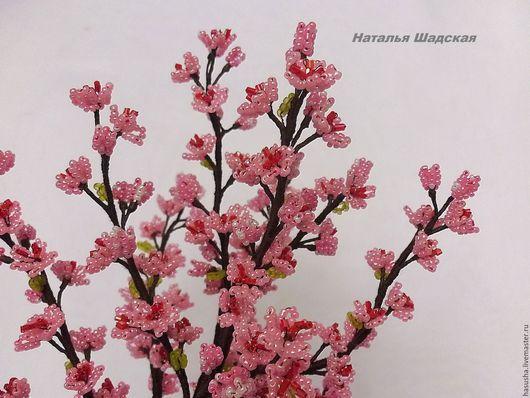 """Деревья ручной работы. Ярмарка Мастеров - ручная работа. Купить Сакура из бисера """"Мечта"""". Handmade. Розовый, цветущая сакура, япония"""