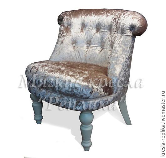 Будуарное кресло из бархата