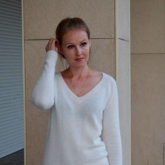 Кофты и свитера ручной работы. Ярмарка Мастеров - ручная работа. Купить Пуловер La brisa. Handmade. Однотонный, пуловер