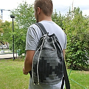 Сумки и аксессуары handmade. Livemaster - original item Backpack denim Infinity Gray. Handmade.