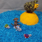 """Куклы и игрушки ручной работы. Ярмарка Мастеров - ручная работа Сказка в стихах """"Мартышка на острове"""". Handmade."""