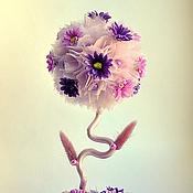 """Цветы и флористика ручной работы. Ярмарка Мастеров - ручная работа Топиарий """"Сиреневая бусинка"""". Handmade."""