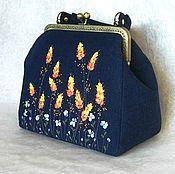 Сумки и аксессуары handmade. Livemaster - original item Bag with clasp: Bag with embroidery