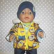 Куклы и игрушки handmade. Livemaster - original item Clothing set for Baby born (Minion). Handmade.