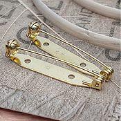 Материалы для творчества handmade. Livemaster - original item Brooch pin 35mm Japan (3217-W). Handmade.