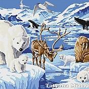 """Материалы для творчества ручной работы. Ярмарка Мастеров - ручная работа Схема  вышивки крестом """"Животные Арктики"""". Handmade."""