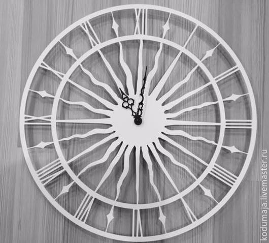 """Часы для дома ручной работы. Ярмарка Мастеров - ручная работа. Купить Часы 45см """"Vana Tallinn"""" белые. Handmade."""